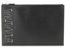 セカンドバッグ プラダ PRADA クラッチバッグ 2NG001 2EDJ F0002 SAFFIANO ブラック セカンドバッグ メンズ