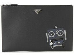 セカンドバッグ プラダ PRADA クラッチバッグ ロボット 2NG001 2EDL F0G52 SAFFIANO ブラック セカンドバッグ メンズ