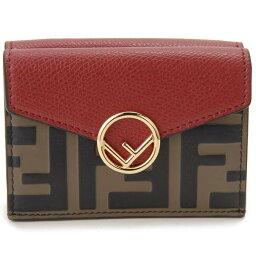 フェンディ 二つ折り財布 レディース フェンディ FENDI 二つ折り財布 レディース ブラウン ズッカ柄 8M0395 AAII F13VJ コンパクト財布