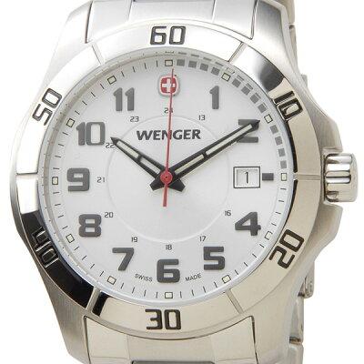 ウェンガー WENGER 70489 メンズ腕時計 ALPINE アルバイン ホワイト/シルバー ミリタリー アウトドア 新品 セールアイテム