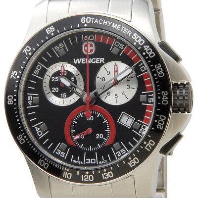 ウェンガー WENGER 70798 メンズ腕時計 バタリオン クロノ ブラック/シルバー ミリタリー アウトドア 時計 新品 送料無料 新品 セールアイテム