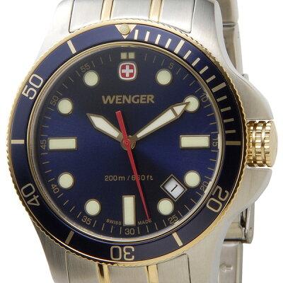 ウェンガー WENGER 72346 メンズ腕時計 バタリオン 200m防水 ブルー/ゴールド/シルバー ミリタリー アウトドア 時計 新品