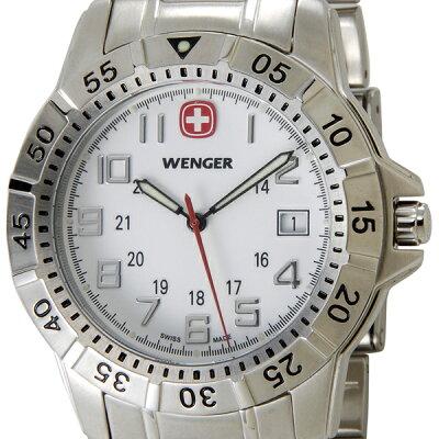 ウェンガー WENGER 72617 メンズ腕時計 マウンテイナー ホワイト/シルバー ミリタリー アウトドア 時計 新品