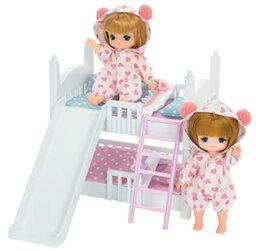 リカちゃん 玩具 楽しく遊べるおもちゃ・着せ替え人形 リカちゃん人形 家具・家電 LF-10 ミキちゃんマキちゃん2だんベッド ※人形、ドレスは別売です 〈大人・子供向けおもちゃ 女の子向け コレクション きせかえ人形 ファッションドール Licca-chan〉