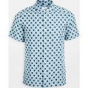 ポールスミス (取寄)ピーエス ポールスミス カジュアル フィット ポルカ ドット ショート スリーブ シャツ PS Paul Smith Casual Fit Polka Dot Short Sleeve Shirt Blue