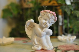 天使の置物 ローズエンジェル 4種  天使置物 天使<再入荷>