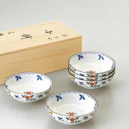 たち吉 たち吉 ギフト はるか 小鉢 5個 桐箱入 947-0250 菊形 小花 美濃焼 小鉢 おうちごはん 和食器 たちきち
