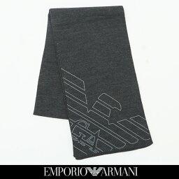アルマーニ マフラー(レディース) EMPORIO ARMANI(エンポリオ アルマーニ)ニットマフラーチャコールグレー275804 8A302