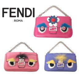 フェンディ 【新品】FENDI/フェンディ モンスター マイクロバケットポーチ ポシェット ショルダーバッグ 2way 8M0354 7JC ピンク パープル レザー アクセサリーポーチ 正規品