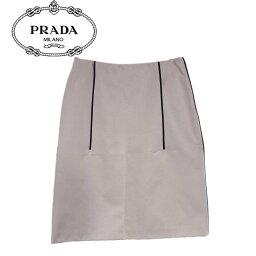 プラダ 【新品】確実正規品 PRADA プラダ 膝丈 スカート ベージュ 肌 レディース