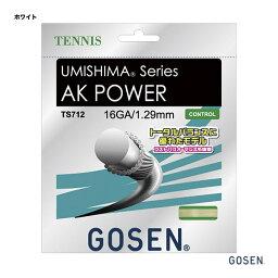 ガット ゴーセン GOSEN テニスガット 単張り ウミシマ(UMISHIMA) AKパワー(POWER) 16 129 ホワイト TS712