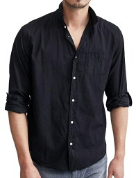 フランクアンドアイリーン 【正規取扱店】Frank&Eileen LUKE L001 メンズシャツ BLACK (フランクアンドアイリーン ルーク)