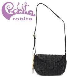 ショルダーバッグ 正規取扱店 robita(ロビタ) AN 211 アンティークメッシュレザー ショルダーバッグ ブラック RBT039
