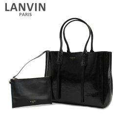 トートバッグ LANVIN PARIS (ランバン パリス) Shopper Tote Bag トートバッグ LW-BGESS2-MINF-E17 10 BLACK レディース ショルダーバッグ 2017SS 【送料無料(※北海道・沖縄は1,000円)】