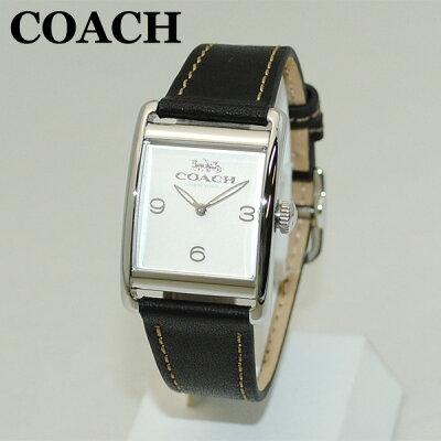 COACH (コーチ) 腕時計 14502830 シルバー/ブラック レザー レディース 時計 ウォッチ 【送料無料(※北海道・沖縄は1,000円)】