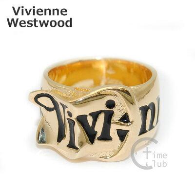 Vivienne Westwood (ヴィヴィアンウエストウッド) 指輪 ベルトリング ゴールド/ブラック SR001/G XS S M アクセサリー メンズ レディース 【送料無料(※北海道・沖縄は1,000円)】