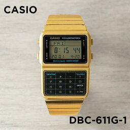データバンク 【並行輸入品】【10年保証】CASIO カシオ データバンク DBC-611G-1 腕時計 メンズ レディース キッズ 子供 男の子 女の子 デジタル ゴールド 金 ブラック 黒
