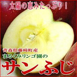 りんご まるくみりんご園の「サンふじりんご」青森県藤崎町 5kg(小玉23個入り)[有機肥料100%・減農薬栽培採用]太陽の恵をいっぱい浴びた「林檎」りんごです(サンふじリンゴ/ふじりんご/甘いりんご)(林檎/お試し/送料無料) 訳あり わけあり