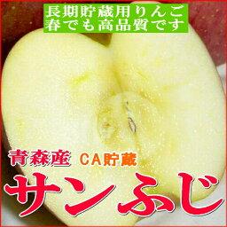 りんご 【送料無料】訳あり サンふじリンゴ「CA貯蔵」青森産5kg 小玉 23〜25個入りCAりんご サン富士 専用冷蔵庫で保管されましたサンフジりんご※少し色が薄かったり小さなキズがあるワケありりんごです。【サンふじ/わけあり】