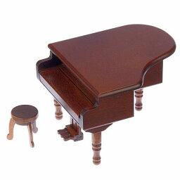 ミニアンティーク木製オルゴール・グランドピアノ 【オルゴール】木製ミニアンティークオルゴール グランドピアノ(曲:カノン)