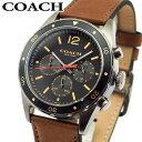 コーチ 腕時計(メンズ) COACH コーチ 14602070 メンズ 腕時計 革ベルト レザー ブラック 黒 ブラウン 茶色 誕生日プレゼント 男性 ギフト 海外モデル