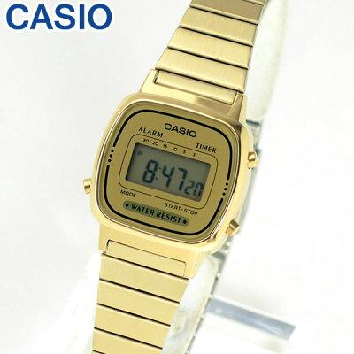 【送料無料】CASIO チープカシオ おしゃれ かわいい チプカシ チープcasio スタンダード LA-670WGA-9 LA670WGA-9 海外モデル レディース 腕時計 デジタル ゴールド 金 誕生日プレゼント 女性 卒業祝い 入学祝い ギフト