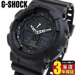 カシオ G-SHOCK 腕時計(メンズ) CASIO カシオ G-SHOCK Gショック GA-100-1A1海外モデル 時計 メンズ 腕時計 防水 カジュアル 黒 ブラック オールブラック アナデジ アナログ デジタルスポーツ ビックフェイス 商品到着後レビューを書いて3年保証 誕生日 男性 ギフト プレゼント