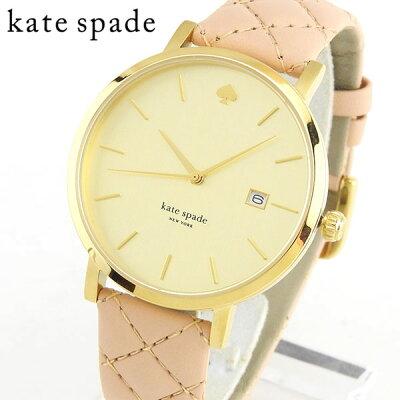 【送料無料】KateSpade ケイトスペード ケートスペード 1YRU0844 海外モデル レディース 腕時計 ウォッチ 革ベルト レザー クオーツ アナログ ベージュ 金 ゴールド 誕生日プレゼント 女性 母の日 ギフト