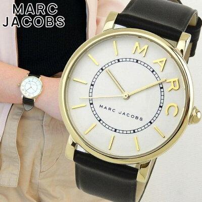 MARC JACOBS マーク ジェイコブス ロキシー レディース 腕時計 革バンド レザー 黒 ブラック 白 ホワイト クオーツ アナログ MJ1532 海外モデル 誕生日プレゼント 女性 ギフト
