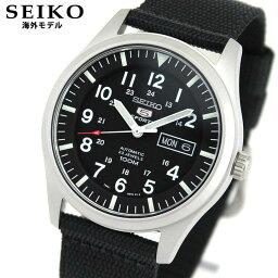 ファイブスポーツ SEIKO5 SPORTS セイコーファイブ スポーツ SNZG15K1 海外モデル メンズ 腕時計時計ナイロン バンド 機械式 メカニカル 自動巻き アナログ 黒 ブラック 逆輸入 誕生日プレゼント 男性 ギフト