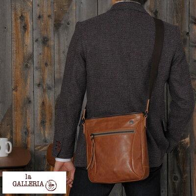 【 ポイント2倍 】 青木鞄 la GALLERIA 縦型ショルダーバッグ Zingaro 男性用 メンズ ショルダーバック 革 本革 レザー 日本製 B5 斜めがけ カジュアル 大人 鞄 かばん バッグ 【送料無料】 【楽ギフ_包装】