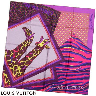 【訳あり】ルイヴィトン LOUIS VUITTON ルイ ヴィトン LV シルク100% カレ ポンポン ゼーブル スカーフ 大判【送料無料】