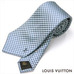 ルイヴィトン ネクタイ LOUIS VUITTON(ルイ・ヴィトン)/ネクタイ/クラヴァット・プティ ダミエ/M74321/ブルーモワイヤン/シルク100%【neck-tie】