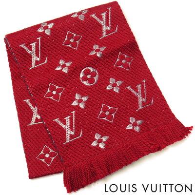 ルイヴィトン LOUIS VUITTON ルイ ヴィトン LV レディース エシャルプ ロゴマニア シャイン マフラー ストール M75832 ルビー 赤 レッド