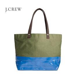 ジェイクルー マザーズバッグ J.CREW カラーブロックキャンバストートバッグ ジェイクルー JCREW