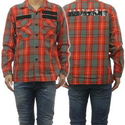 ディーゼル DIESEL ディーゼル メンズカジュアルシャツ S-TAKESHI / 00SMAW 0QAVI オレンジ