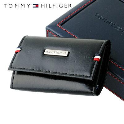トミーヒルフィガー TOMMY HILFIGER キーケース 31TL17X011-001(0094-5168/01) ブラック (6キーホック) レザー(革) メンズ 男性 トミー シンプル