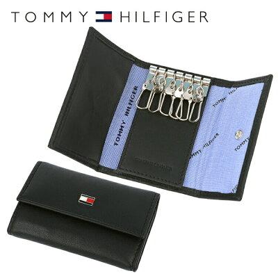トミーヒルフィガー TOMMY HILFIGER キーケース 31TL17X002-001(0094-4510/01) ブラック (6キーホック) レザー(革) メンズ 男性 トミー シンプル