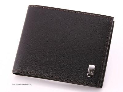 【dunhill】ダンヒル 財布 二つ折り 小銭入れ付 財布 SIDECAR FP3070 ダークブラウン 【ダンヒル】