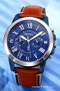フォッシル 腕時計(メンズ) フォッシル 時計 FOSSIL 腕時計 グラント ブルー FS5151