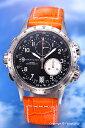 カーキ 腕時計(メンズ) ハミルトン 腕時計 HAMILTON Khaki E.T.O(カーキ イーティーオー) ブラック/オレンジレザーストラップ H77612933 【あす楽】