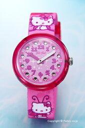 スウォッチ フリックフラック 腕時計(レディース) スウォッチ 腕時計 ZFLNP005 SWATCH Flik Flak(フリックフラック) Hello Kitty Butterfly (ハローキティ バタフライ) 【あす楽】