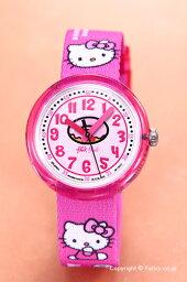 スウォッチ フリックフラック 腕時計(レディース) SWATCH スウォッチ キッズ腕時計 ZFLNP001 Flik Flak(フリックフラック) Hello Kitty Cafe (ハローキティ カフェ) 【あす楽】