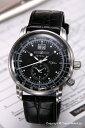 ツェッペリン ツェッペリン 腕時計 メンズ ZEPPELIN ツェッペリン生誕100周年モデル デュアルタイム ブラック 7640-2 【76402】
