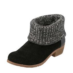 セダ―クレスト セダークレスト オレンジスター CEDAR CREST ブーツ CC-2716 レディース 靴 靴 シューズ 2E相当 ショートブーツ カジュアル 抗菌 防臭 ニット かわいい おしゃれ 大きいサイズ対応 25.0cm 25.5cm ブラック TSRC