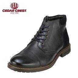 セダ―クレスト セダークレスト CEDAR CREST ブーツ CC-1581 メンズ 靴 シューズ 3E相当 ブーツ 本革 幅広 ネイビー TSRC
