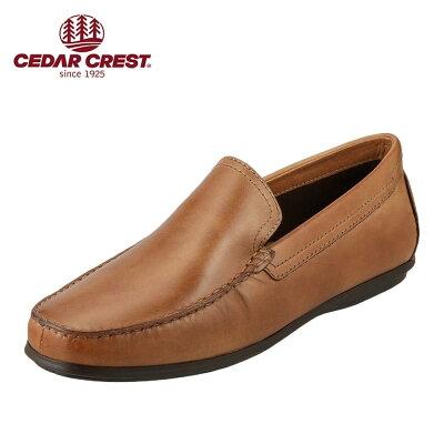 セダークレスト CEDAR CREST スリッポン CC-1935 メンズ靴 靴 シューズ 3E相当 スリッポン 本革 ドライビングシューズ シンプル 幅広 ゆったり 小さいサイズ対応 24.0cm 24.5cm キャメル TSRC