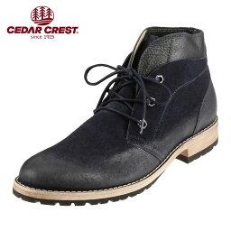 セダ―クレスト [セダークレスト] CEDAR CREST CC-1565 メンズ   カジュアルブーツ   デザートブーツ チャッカブーツ   抗菌消臭 人気   大きいサイズ対応 28.0cm   ネイビー TSRC
