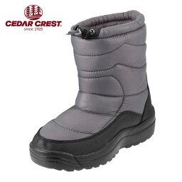 セダ―クレスト [セダークレスト] CEDAR CREST CC-9153W レディース | ダウンブーツ | ダウンタイプ ショートブーツ | 防寒 防水 軽量 | 大きいサイズ対応 25.0cm 25.5cm | グレー TSRC
