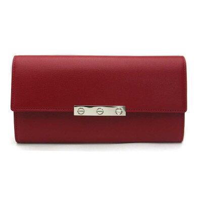 カルティエ/Cartier ファスナー付き長財布・ラブ LOVE ライン・L3001377 RED/レッド【即発送可能】
